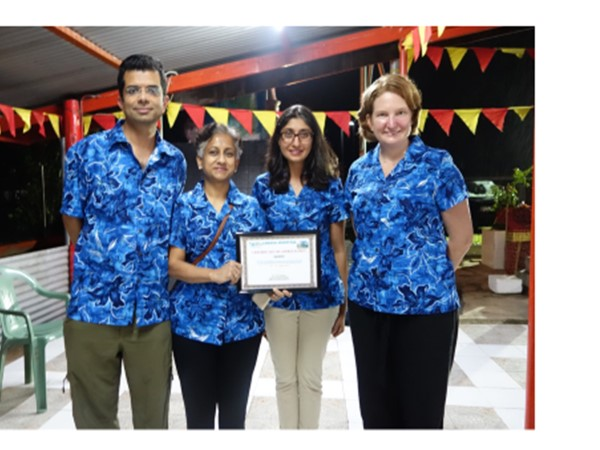 The Surgical Team with a Certificate of Appreciation