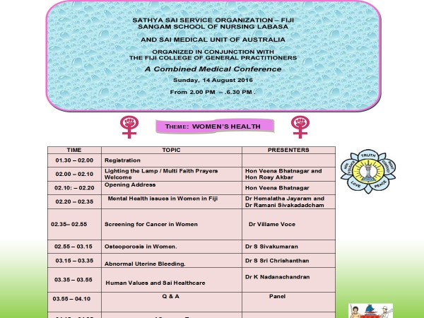 The Women's Health Conference Programme